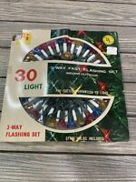 Vintage Foremost Industries Christmas Lights Indoor Outdoor Flashing Set