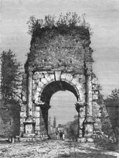 ROME. Arch of Drusus 1872 old antique vintage print picture
