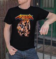 Anthrax Men Black T-shirt  Trash Metal Tee Shirt Heavy Metal Band Tshirt