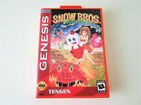 Snow Bros Nick & Tom - Sega Genesis Game / Case English Ver (USA Seller)