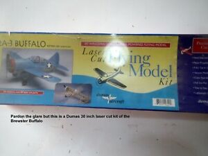 Dumas Kit for Brewster Buffalo--scale rubber powered flying model