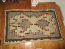 Antique Early Native American Indian Navajo Crystal Storm Dazzler Rug Blanket