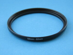 58mm to 62mm Step Up Step-Up Ring Camera Lens Filter Adapter Ring 58mm-62mm