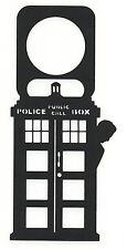Doctor Who 12th Doctor TARDIS Peter Capaldi Door Knob Hanger Black Plastic Sign