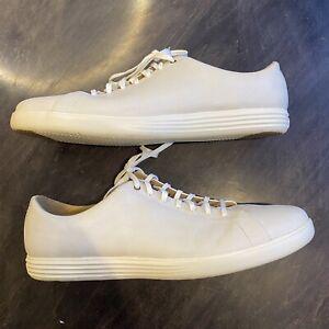 Cole Haan Grand Crosscourt II Sneaker White C26515 Men's Size 15 Leather Dress