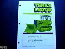 Terex L400D & L600D Crawler Loader Literature