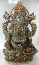Huge 5.2 kilo 10.75 inches Jade #Lord Ganesha #Sculpture #gemsindia #handicraft