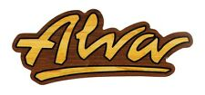 Alva Skates OG Logo Skateboard Sticker Official Old School Reissue Wood effect