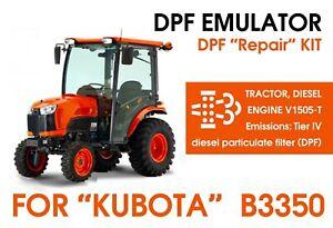 """""""KUBOTA"""" B3350 DPF regen problem??? Repair kit - DPF particulate filter Emulator"""