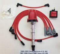 CHEVY/GMC 1986-96 VANS ASTROVAN 4.3L 262 EFI TPI TBI DISTRIBUTOR + WIRES + COIL