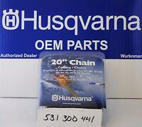 "Husqvarna OEM 531300441 20"" H80-72 Chainsaw Chain .3/8"" by .050"" LowVib Original"