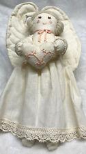 Vintage Handmade Sewn Angel Cream With Pink