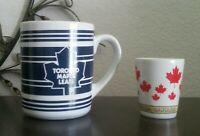 1994 NHL Toronto Maple Leafs Mug + Canada Shot Glass (Hockey)