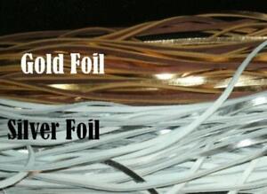 "Baseball and Softball Glove Lacing Kit ⚾2 Laces ⚾3 1/2"" Tool/Needle ⚾Gold/Silver"
