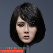 "1/6 Asian Female Head Sculpt SHORT HAIR For 12"" PHICEN Figure SHIP FROM USA"