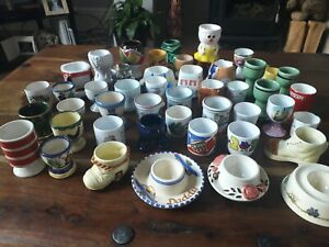 Job Lot of Vintage Character Egg Cups, All sorts as shown.