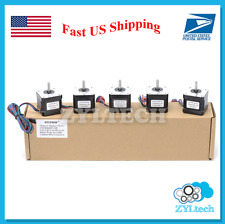 US Shipping 5X Nema17 Stepper Motor 1.5 A 0.42 Nm 59 ozin for 3D printer and CNC