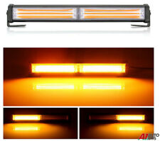 30Cm 36w Cob Led Work Light Bar Car Truck Emergency Warning Flash Strobe Amber