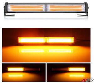 "11.8"" 36W Cob Led Emergency Warning Hazard Flash Strobe Beacon Light Bar Amber"