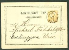 HUNGARY TOWN CANCEL on 1871 2kr POSTAL CARD - VALPO