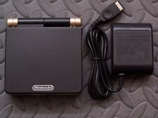 GameBoy Advance SP Handheld System AGS001 W/Glass Screen Black+Light Gold
