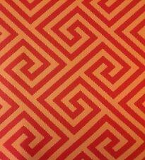 Schumacher Outdoor Greek Key Fabric- St. Tropez/Mango 3.0 yds (62903) MSRP $570