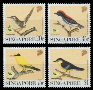 Singapur 1991 - Mi-Nr. 636-639 A ** - MNH - Vögel / Birds