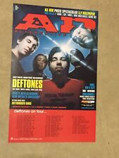 "Deftones ""Ap Press"" 2000 U.S. Promo Poster - Group On Cover Above Tour Dates"