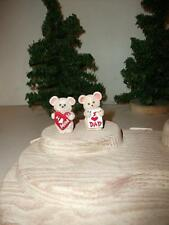 2 Hallmark Everyday Merry Minis '91 I Love Dad & I Love Mom Mouse Couple Ws Mice