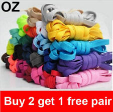 Shoelaces Colorful Coloured  Flat Round Bootlace Sneaker shoe laces