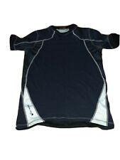 Mens Endura Short Sleeve Crew MTB Cycling T-Shirt Base Layer Black/Grey Medium