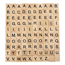 100PC/pack Polished Wooden Scrabble Tiles Letter Alphabet Scrabble Game Toys BN