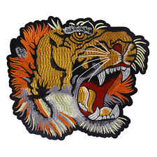 Large Tiger Head Applique Embroidered Patches Sew On Patch Lace Motifs Decorated