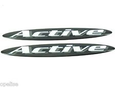 2 x Genuine New VAUXHALL ACTIVE DOOR BADGE For Corsa C Astra G Vectra C Zafira A