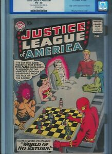 CGC 3.5 JUSTICE LEAGUE OF AMERICA #1 FLASH AQUAMAN WONDER WOMAN OW PAGES 1960