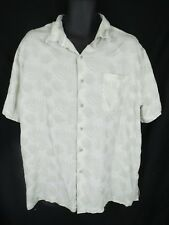 Nat Nast Mens Size XL XLarge Light Green Button Down Leaf Shirt