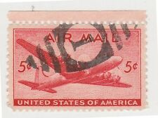 (UST-27) 1941 USA 5c red mail plane air mail (N)