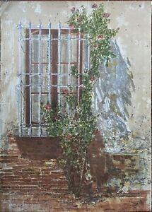 Piero Vignozzi litografia la Finestra  70x50 firmata numerata margine pieno