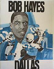 BOB HAYES DALLAS COWBOYS 1969 PROMOTIONAL POSTER