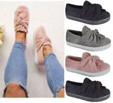 Zapatos planos de mujer sin marca de ante