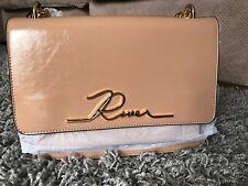 River Island Pink Patent River Satchel Bag