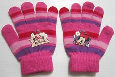 Pair of gloves printed Minnie Mouse Disney, Fuchsia pink, Size 4