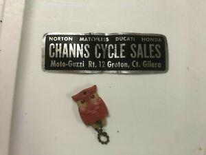 1960`s Channs Sticker & Keychain Norton Matchless Ducati Honda Gilera Moto-Guzzi