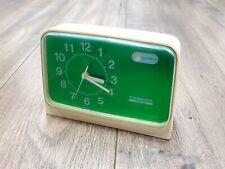 Rare Mid Century 60s Toshiba TWS-215 Green White Alarm Clock Japan