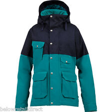 BURTON AURORA WOMEN'S INSULATED JACKET JADE/NIGHT RIDER MEDIUM (M) NEW WITH TAGS