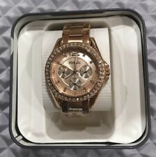 NWT Women's ES2811 Fossil Riley Multifunction Watch Rose Gold