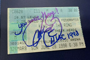 Mick Foley Signed WWF King of the Ring 1998 Ticket Stub Exact Proof Mankind RARE