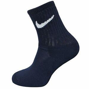 Nike Youth Unisex Socks Long Logo Shoe Liner Navy 564199 451