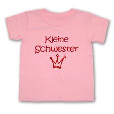 BABY T-Shirt Kleine Schwester - Wahl: Motiv, Wunschname, Größe * Rosa * NEU