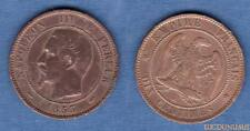 2nd Empire, 1852-1870 – 10 Centimes Napoléon III tête nue 1853 A Paris TB TTB